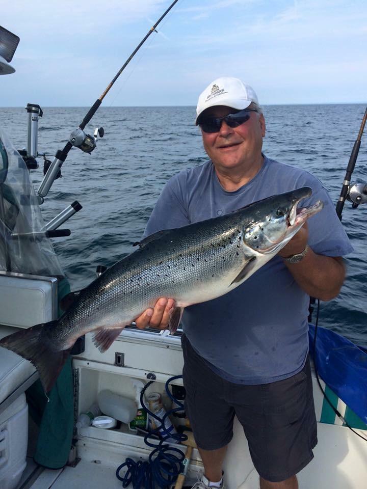Lake ontario fishing charters oswego ny tk charters for Atlantic salmon fishing