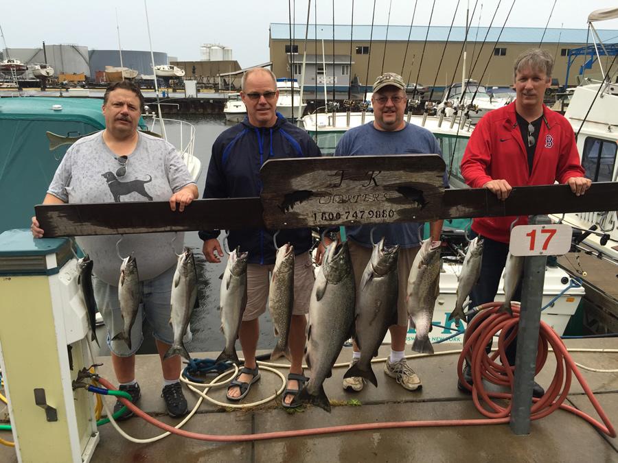 Lake ontario fishing charter 07 25 2016 tk charters for Ny fishing charters