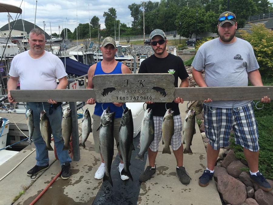 Lake ontario fishing charter 07 14 2016 tk charters for Ny fishing charters