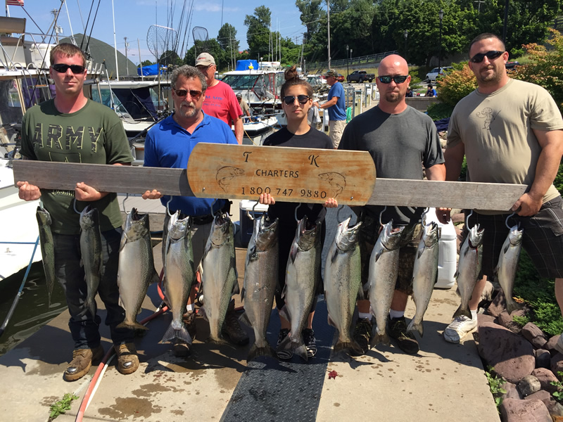 Lake ontario fishing charter 07 16 2017 tk charters for Ny fishing charters